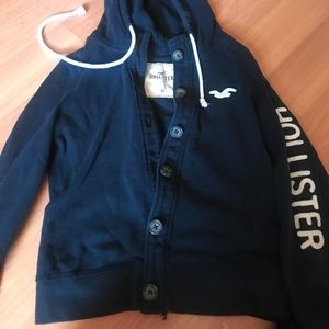 Hollister button on sweater